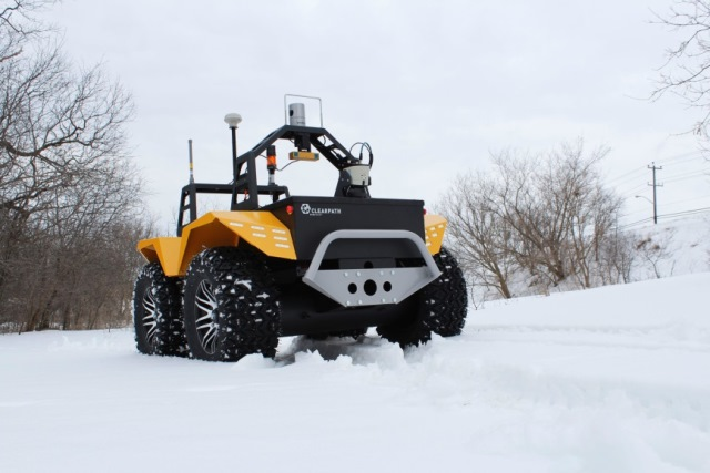 Grizzly Robotic Utility Vehicle (RUV) is designed for rough, rugged environments.