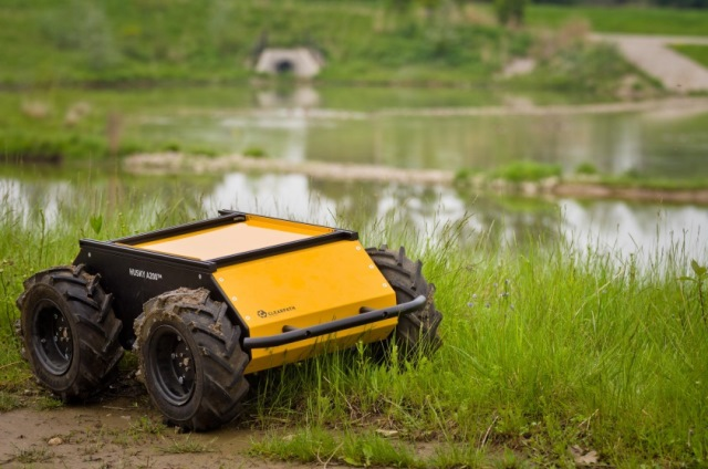 Husky Unmanned Ground Vehicle (UGV) by Clearpath Robotics.