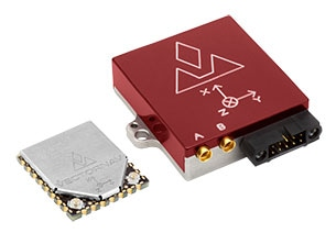 VN-300 Dual Antenna GNSS/INS (manufactured by VectorNav). Left, surface mount device. Right, ruggedized with interface. (Image: VectorNav Technologies)