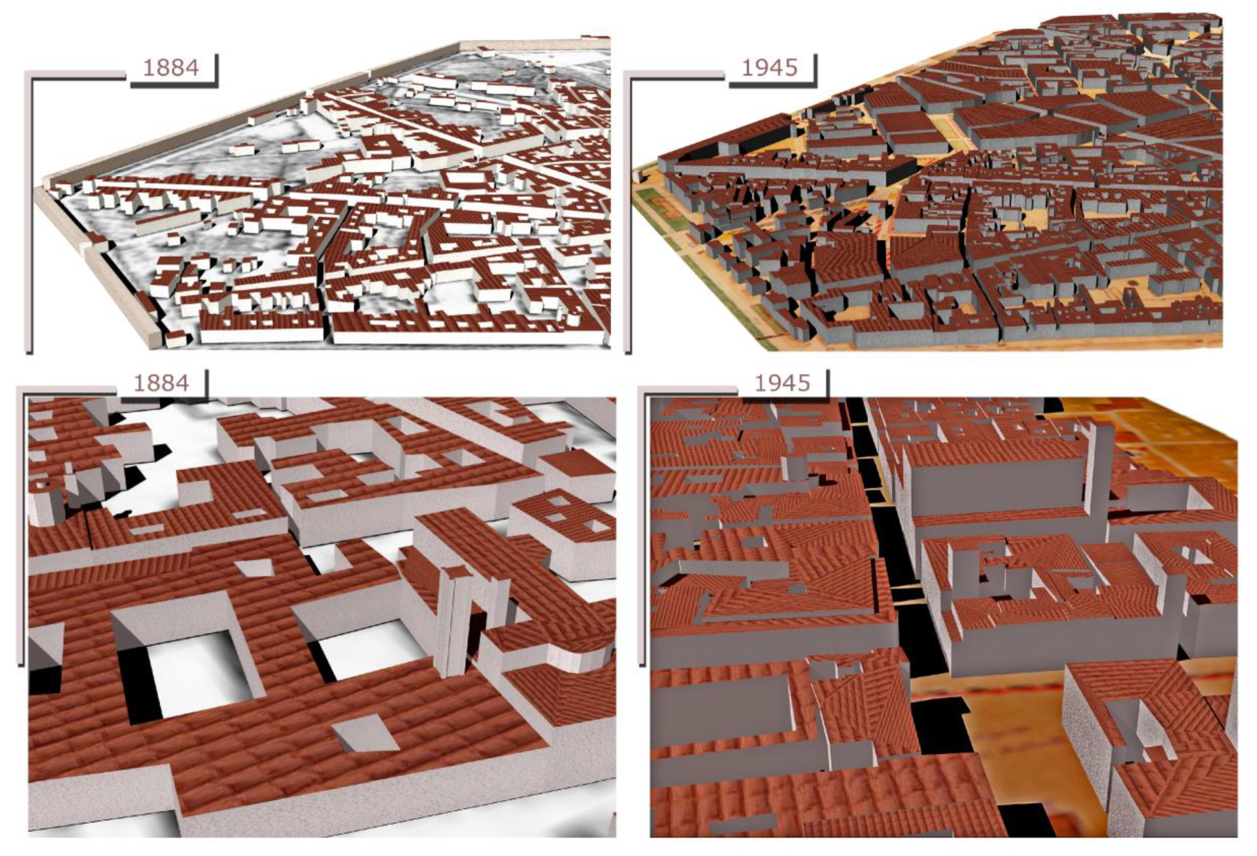 Revive the Map: 4D Building Reconstruction with Machine Learning
