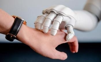People Patted by Robot While Conversing Report Better Emotional State